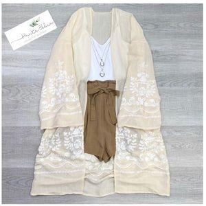ALKI-Open Front Kimono Cardigan